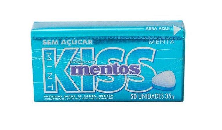 Mentos Kiss Menta 50 un s/Açucar - Perfetti