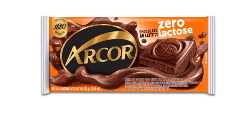 Chocolate ao leite Zero Lactose 80g- Arcor