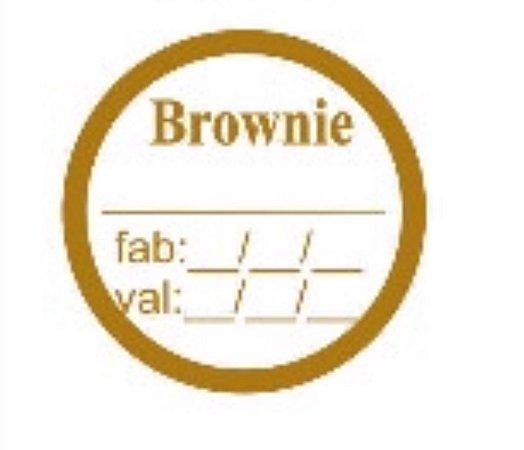 Etiqueta adesivas Decorado Brownie c/ valdade- Eticol