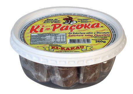 Doce de Amendoim com cobertura de Chocolate c/ 13unidades - Kikakau