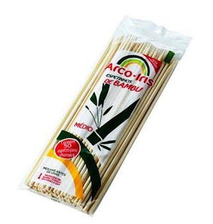 Palito para espetinho de Bambu médio com 50 unidades  - Arco Iris