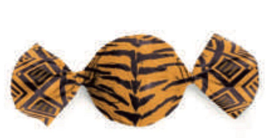 Embalagem para trufa decorado Tigre 15x16cm-Carber