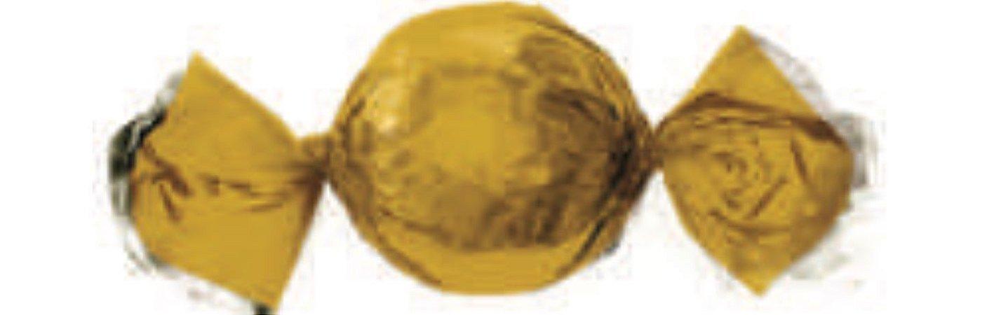 Embalagem para trufa Ouro Brilhante 15x16cm - Carber