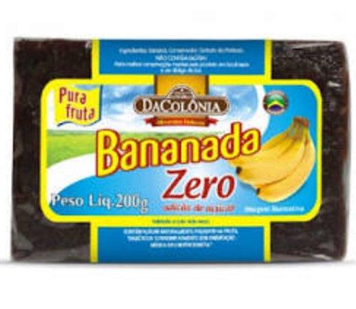 Bananada Zero Adiçao de Açucar-200g-Dacolônia