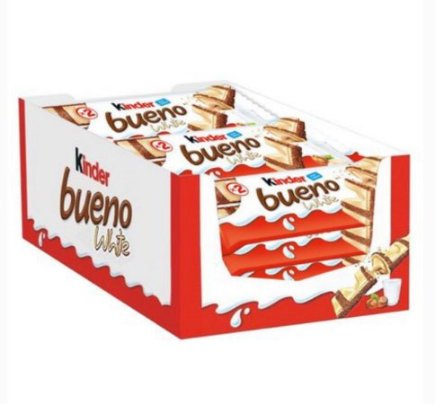 Caixa Chocolate Kinder Bueno white 39g c/ 15 unid- Ferrero