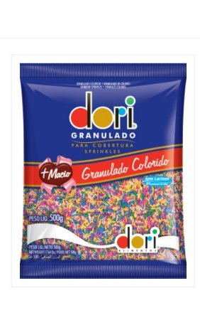 Chocolate Granulado Colorido 500g- Dori