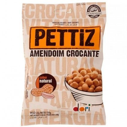 Amendoim Crocante Natural Pettiz 150g - Dori