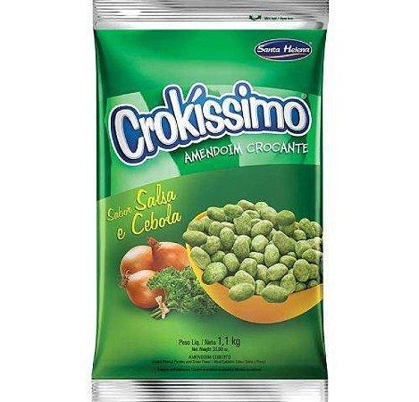 Amendoim Crokissimo Crocante Cebola E Salsa 1,1Kg - Santa Helena