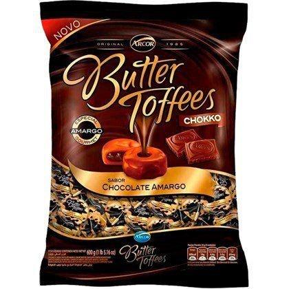 Bala Butter Toffees Chokko Chocolate Meio Amargo 500G - Arcor