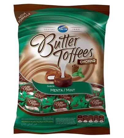 Bala Butter Toffees Chokko Menta 100g - Arcor