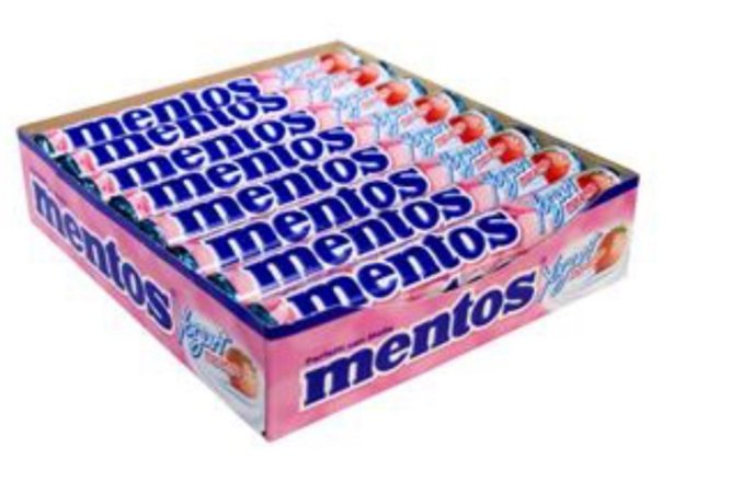 Pastilha Mentos  Stick Iogurte 38g c/ 16unid- Perfetti