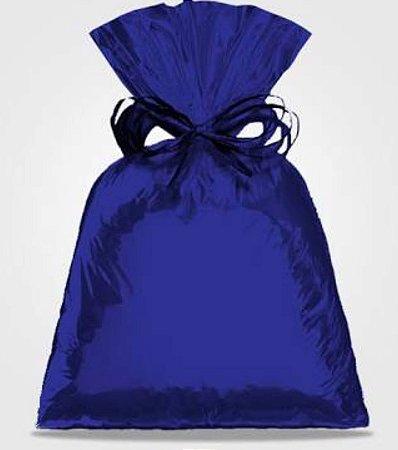 Saco Metalizado Para Presente cor Azul Royal 35x54cm c/50 unid - packpel