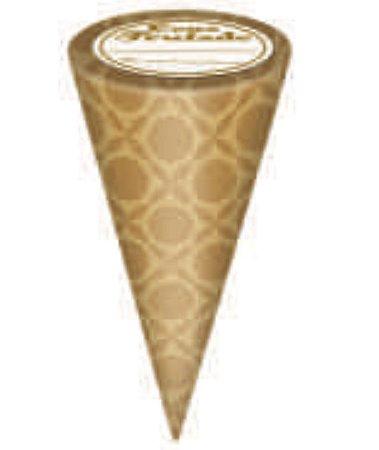 Embalagem ConeTrufado Dourada com 50 unid- Carber