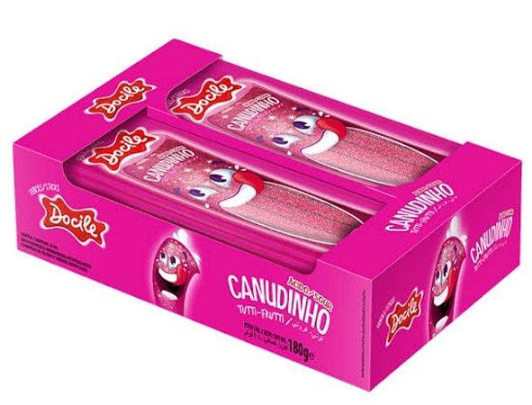 Canudinho Tutti-frutti ácido com 12 pacotes de 15g - Docile