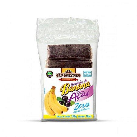 Barrinha de banana com açaí sem açúcar c/ 10 un - Dacolonia