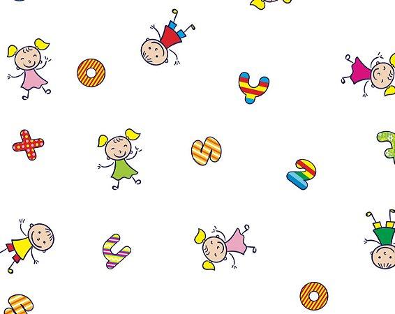 Saco Transparente Decorado Festa Kids 35x54cm - Packpel