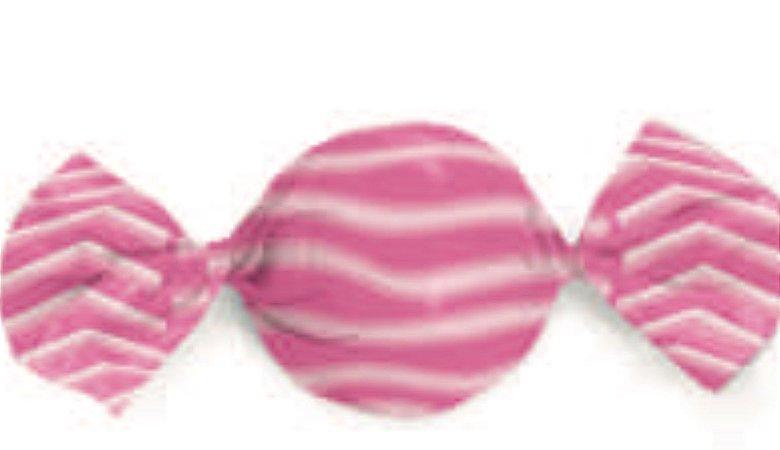 Embalagem para  Trufa Listra Rosa 15x16-Carber