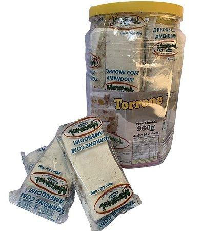Torrone com amendoim c/ 20 un - Manamel