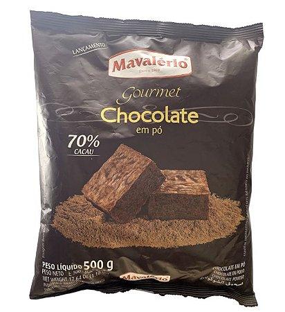 Chocolate em pó gourmet 70 % cacau 500g - Mavalério
