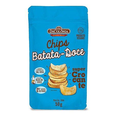 Chips vegano de batata doce 50g - Dacolônia