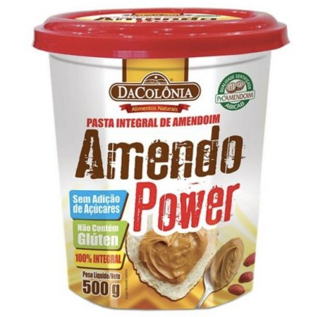 Pasta de Amendoim Power 500g - Dacolônia