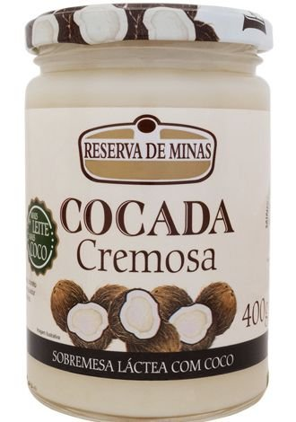Cocada cremosa 400g - Reserva de Minas
