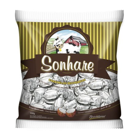 Bala Sonhare Coco Queimado 600g - Boavistense