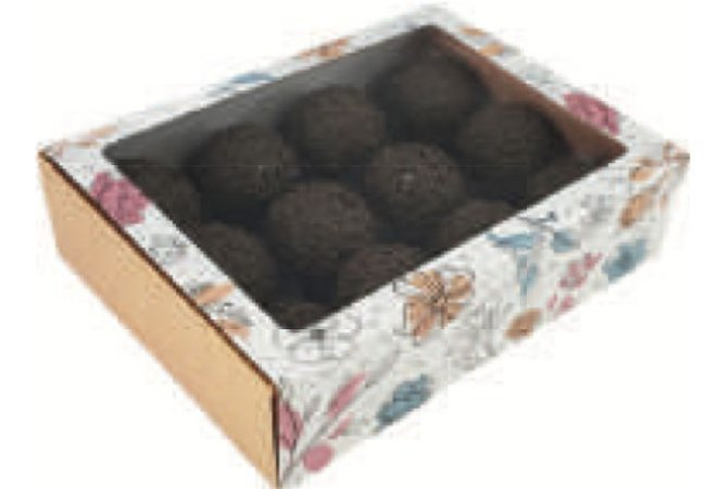 Caixa gaveta Doce jardim para 12 doces (cód. 2466) c/ 10 un - Ideia