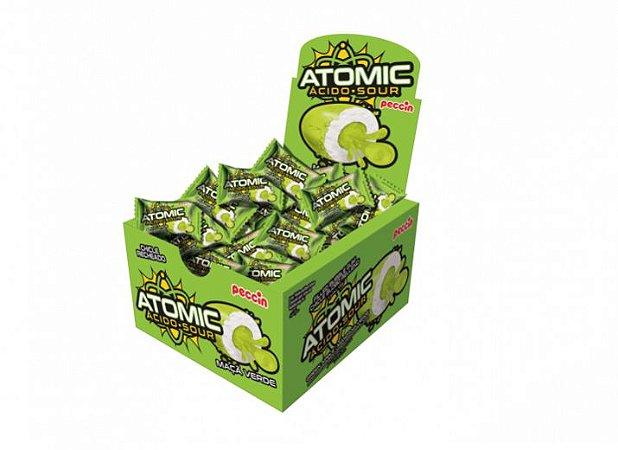 Chiclete atomic ácido sour sabor maça verde com 28 unidades - Peccin