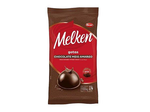 Chocolate em gotas Melken Meio Amargo 2,100kg - Harald
