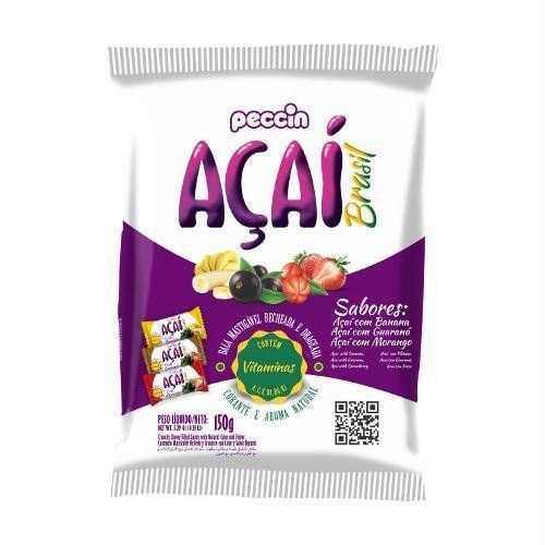 Bala de Açai mastigável 150g - Peccin