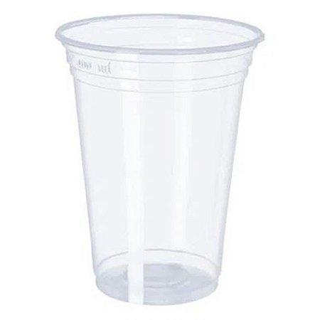 Copo descartável linha transparente liso 400 ml com 50 unidades - Minaplast