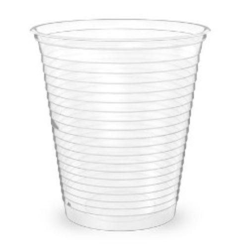 Copo descartável transparente 180ml com 100 unidades - Minaplast