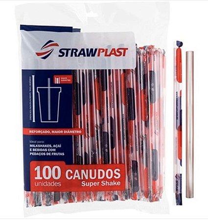 Canudos Shake Strawplast - 100 unidades embaladas individualmente