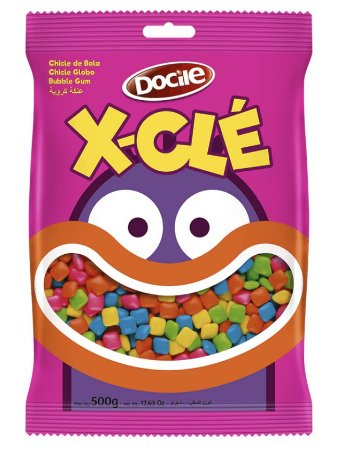 Mini Chicles Xcle Colorido 500g - Docile