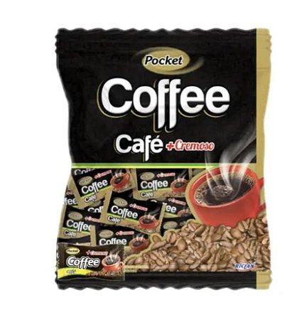 Bala Dura Pocket Cremosa Coffee Freegells 100g - Riclan