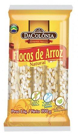FLOCOS DE ARROZ NATURAL ZERO LACTOSE DACOLÔNIA PACOTE 100G