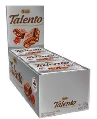Chocolate Garoto Diet Talento Avelã 15X25g