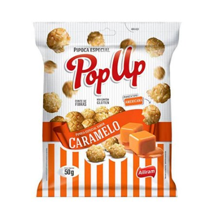 Pipoca Pop Up Caramelo 50 g - Bel