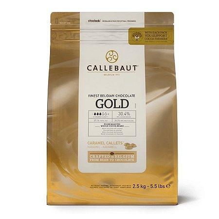 Chocolate Belga Gold Caramelo 30,4% Callebaut Moedas 2,01Kg - Callebaut