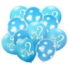 Buquê De Balões Chá De Revelação Azul com 10 Unidades