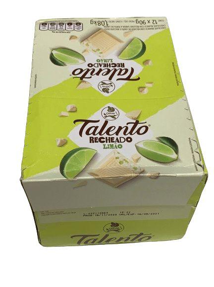 Talento Recheado sabor limão 12 unidades de 90g - Garoto