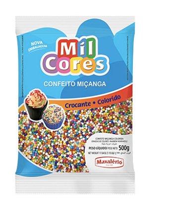 Confeito Miçanga Colorida N.0 Mil Cores 500g Mavalerio