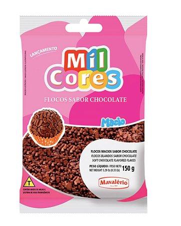 Flocos Macio Chocolate Mil Cores 150g Mavalerio