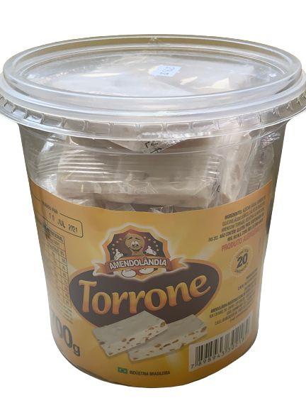 Torrone com 20 unidades (pote 700g)  - Amendolândia