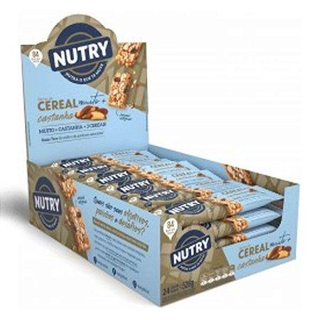 Barra De Cereal sabor Castanha com 24 Unidades - Nutry
