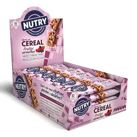 Barra De Cereal sabor Frutas Vermelhas 24 Unidades - Nutry