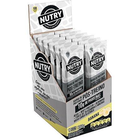 Barra de Proteina sabor banana com 12 unidades -  Nutry