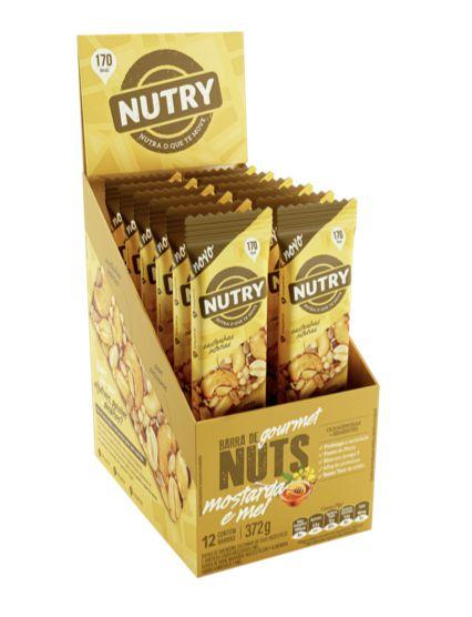 Barra De Nuts Mostarda e Mel com 12 unidades - Nutry