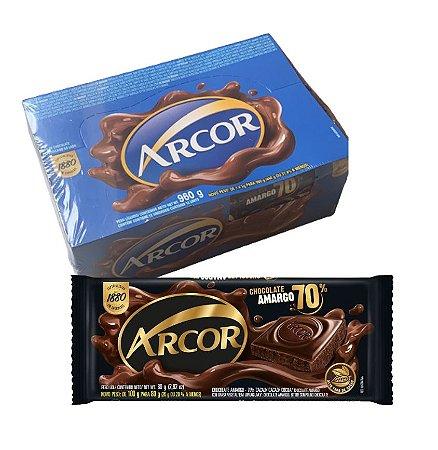 Chocolate Amargo 70% Cacau com 12 Unidades de 80g - Arcor
